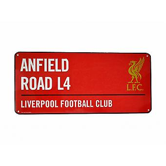 Liverpool FC Official Football Coloured Metal Street Sign