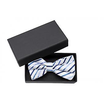 Fly white, striped blue tree loop wedding Fabio Farini bow tie