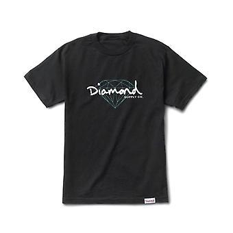 Diamond Supply Co brillant Skript T-shirt schwarz