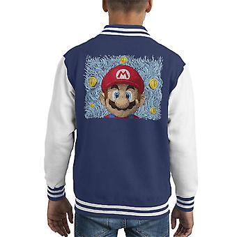 Mario Van Gogh Bros Kid's Varsity Jacket