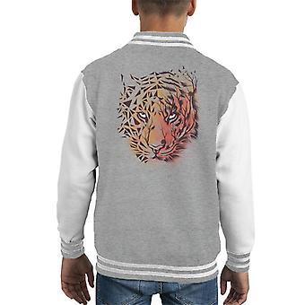 Geometric Tiger Kid's Varsity Jacket