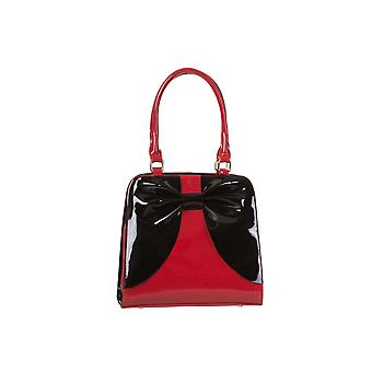 Dancing Days Red & Black Classic Square Lila Handbag