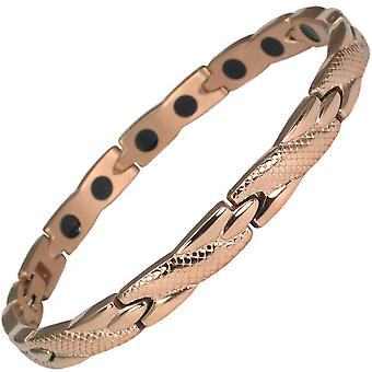 MPS® Two Gold Stainless Steel ADANA Magnetic Bracelet + FREE Resizing Tool