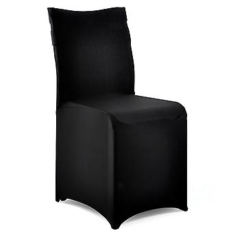TRIXES 10 X Black Synthetic Stretch Fabric Lycra Chair Cover