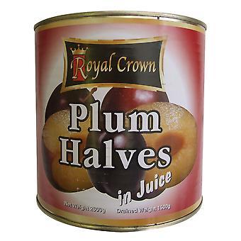 Royal Crown Red Plum Halves in Juice