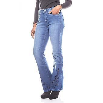 ARIZONA women's Bootcut jeans with embroidery for size blue