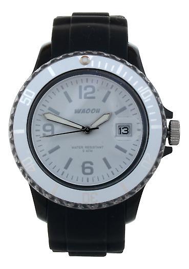 Waooh - visar MONACO 38 ringa & bezel transparent vit