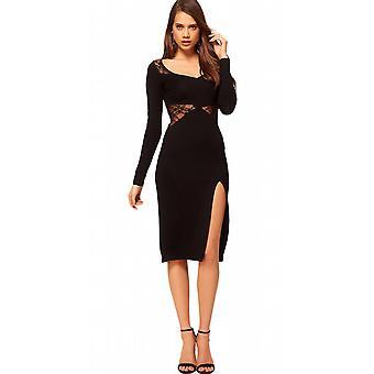 Waooh - Fashion - Slit Dress with Lace