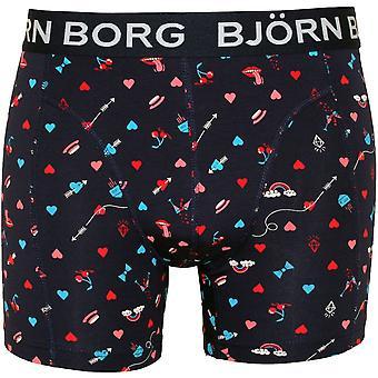 Bjorn Borg BB Valentine's Print Boxer Trunk, Navy