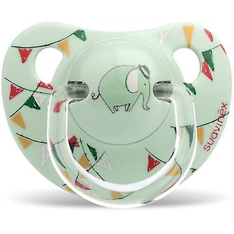 Suavinex Anatomical Pacifier Green Elephant Latex 6 to 18 Months