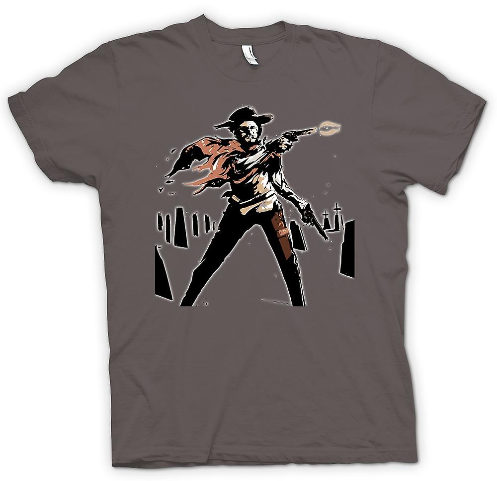 Womens T-shirt - Spaghetti Western - Cowboy - Sketch