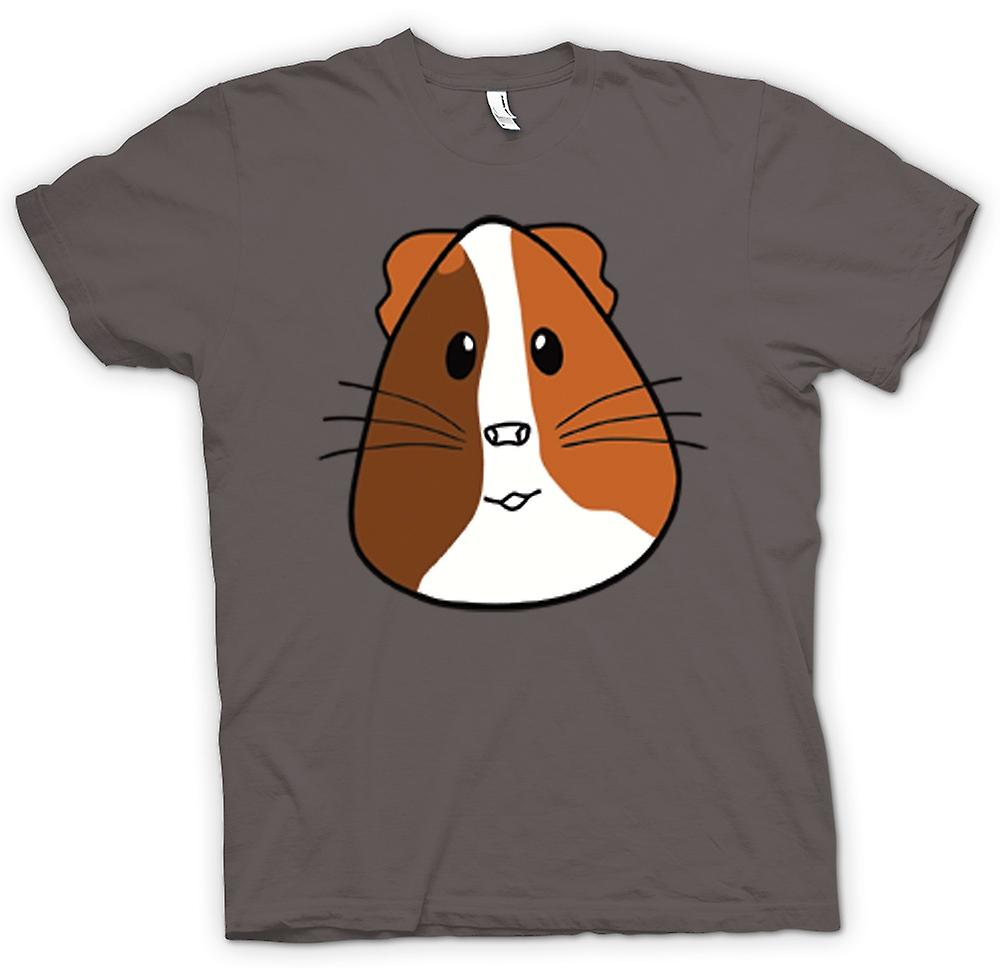 Womens T-shirt-Cartoon cavia gezicht