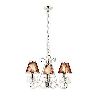 Oksana nichel tre soffitto luce a sospensione con tonalità nero - interni 1900 63505