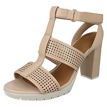 Ladies Clarks Open Toe High Heel Sandals Pastina Castle