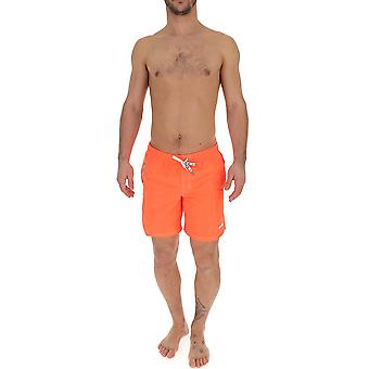 Msgm Orange Polyester Trunks