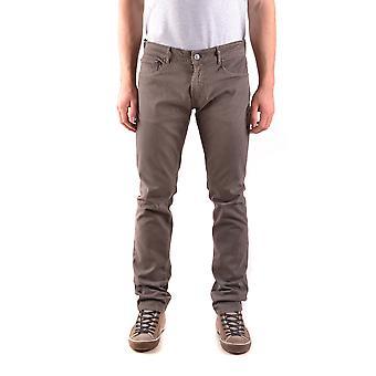 Pt05 Brown Cotton Jeans
