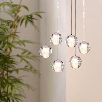 Moderne nikkel hanger licht plafond Lamp eetkamer 6 hanger ovaal luifel verlichting