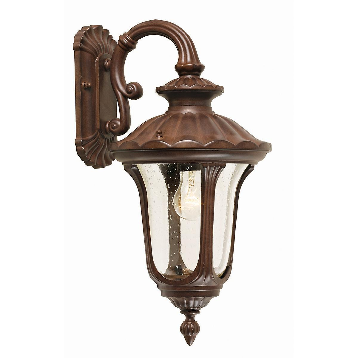 Elstead CC2/S Chicago Small Outdoor Wall Down Lantern with Textured Glass