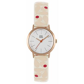 Orla Kiely | Womens Small Rose Gold Case | Pale Pink Acorn Strap | OK2318 Watch