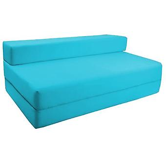 Water Resistant Fold Out Double Z Bed Sofa - Turquoise