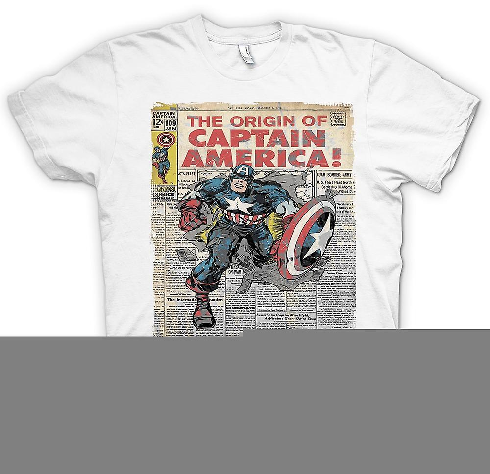 Heren T-shirt - de Origins van Captain America - Cool Superhero