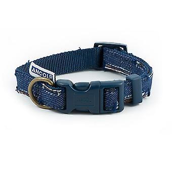 Ancol lapptäcke blå hundhalsband - 20-30cm