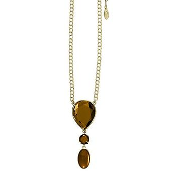 Pilgrim GoDiva ladies´ necklace  brown/gold (549521)