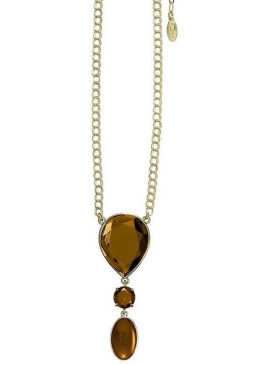 Pelgrim GoDiva Damenhalskette, bruin/goud (549521)