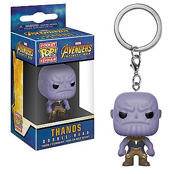 Avengers 3 Infinity War Thanos Pocket pop! Nøglering