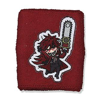Sweatband - Black Butler - New SD Grell Wristband Anime Licensed ge6386
