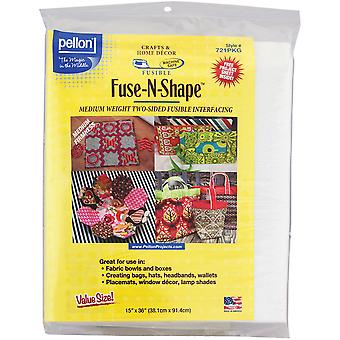 Fuse-N-Shape Mediumweight Fusible Interfacing-White 15