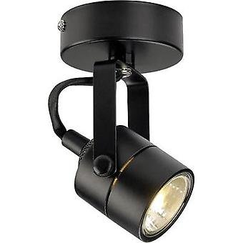 Ceiling floodlight HV halogen GU10 50 W SLV Spot 79 132020 Black