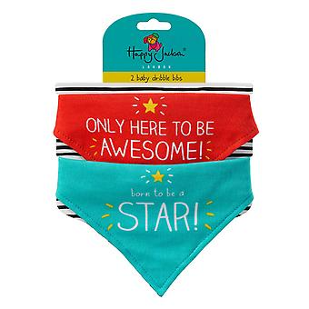 Born A Star / Awesome - Baby Bibs by Happy Jackson