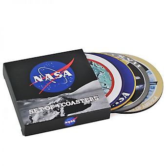 Nasa set of 4 cork backed drinks coasters   (hb)