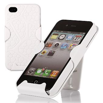 Cover with sliding bracket, bumper for iPhone 4/4s (white)