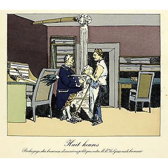 Henri Monnier affisch Skriv