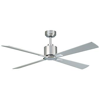Direct current ceiling fan Airfusion Climate DC Chrome brushed with remote control 132 cm / 52