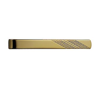 Hard Gold Plated 6x55mm engine turned Tie Slide