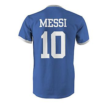 Lionel Messi 10 Argentina Country Ringer T-Shirt