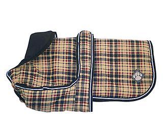 Luxury Coat Classic Check Waterproof Dog Coat 25cm (10
