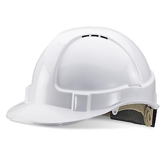 Beeswift B Brand Industrial Safety Helmet ABS Vented Unisex Work Hard Hat White