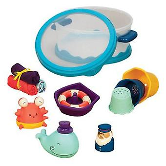 B. Wee bathroom with box set Splashy (Toys , Preschool , Babies , Bathing Toys)