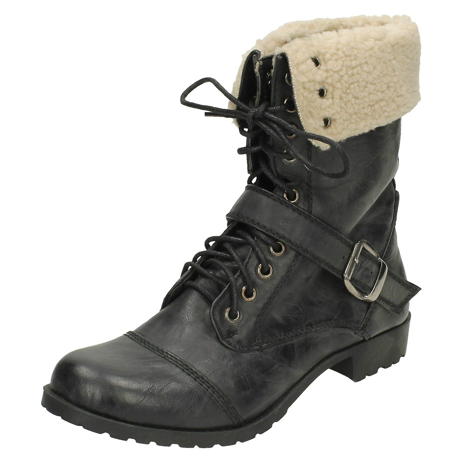 Ladies Up Ankle Spot Boots On Lace Lined Rr6RHn