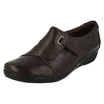 Ladies Clarks Low Wedge Smart Shoes Everlay Luna