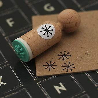 Snowflake Very Mini Wooden Rubber Stamp Craft / Scrapbooking / Christmas