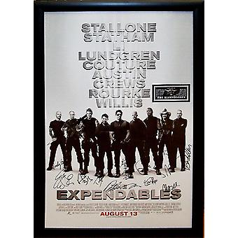 Expendables -  Signed Movie Poster
