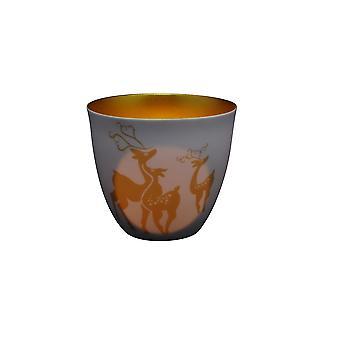 Licht leuchten Rentiere Golden Circle Teelicht Kerzenhalter