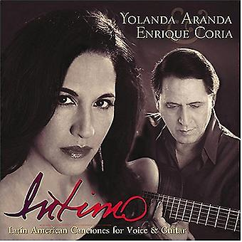 Aranda/Coria - Intimo: latinamerikanske Canciones til stemme & Guitar [CD] USA import