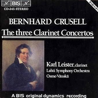 B. Crusell - Crussell: The Three Clarinet Concertos [CD] USA import