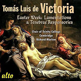 Choir of Trinity College, Cambridge/ Ric - Victoria: Easter Week Lamentations & Res [CD] USA import